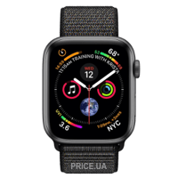 Фото Apple Watch Series 4 GPS + Cellular 40mm Space Gray Aluminum Case Black Sport Loop (MTVF2)