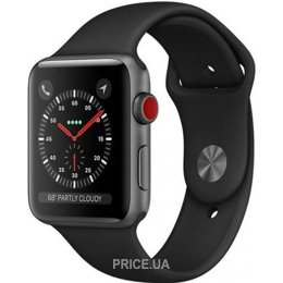 Apple Watch Series 4 GPS + Cellular 40mm Space Gray Aluminum Case Black Sport Band (MTVD2)