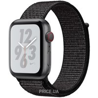 Фото Apple Watch Nike+ Series 4 GPS + LTE 44mm Gray Alum. w. Black Nike Sport l. Gray Alum. (MTXD2)