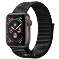 Фото Apple Watch Series 4 GPS + LTE 40mm Gray Alum. w. Black Sport l. Gray Alum. (MTUH2)
