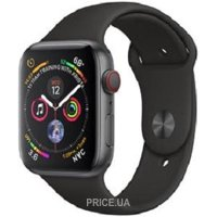 Фото Apple Watch Series 4 GPS + LTE 44mm Gray Alum. w. Black Sport b. Gray Alum. (MTVU2)