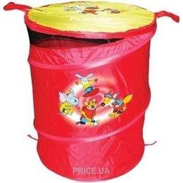 fe0afaf5006e8 ... корзину для игрушек Devik Play Joy Корзина для игрушек красная (T0303B)